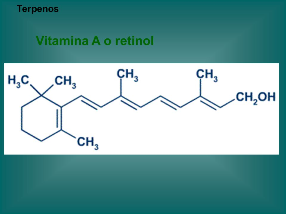 Terpenos Vitamina A o retinol
