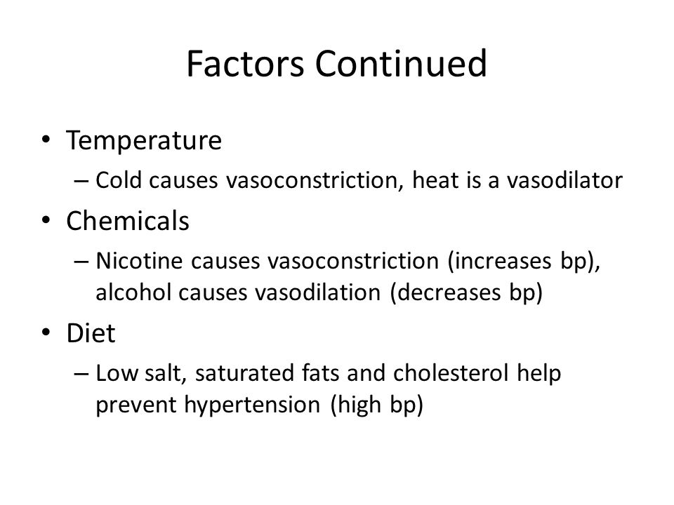 Factors Continued Temperature Chemicals Diet
