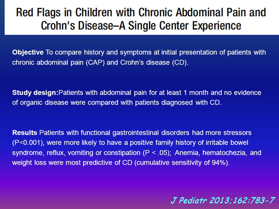 why children have chronic abdominal pain