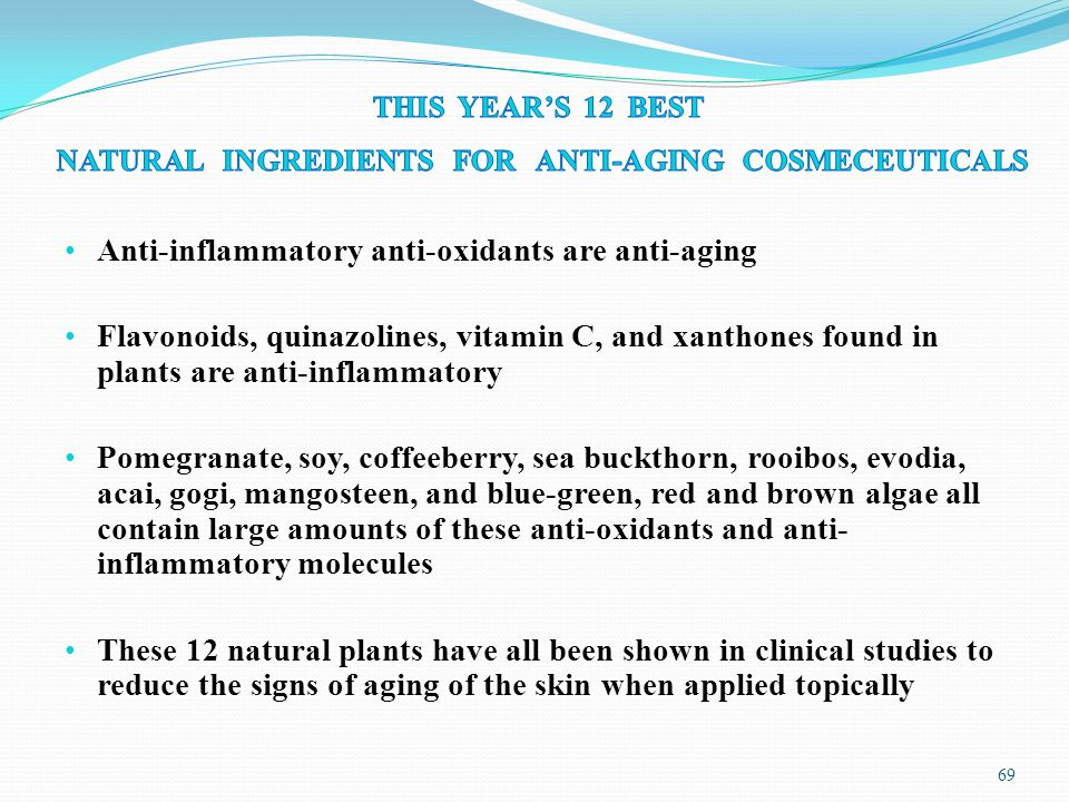 NATURAL INGREDIENTS FOR ANTI-AGING COSMECEUTICALS - ppt ...