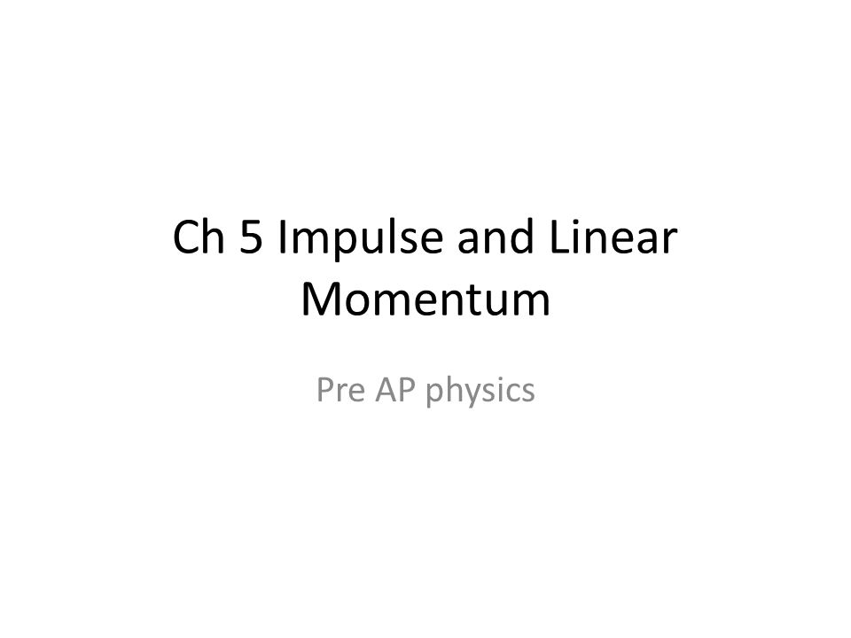 lab report impulse and momentum The law of conservation of momentum states that in a closed system,  lab report explained: length and electrical resistance of a wire.