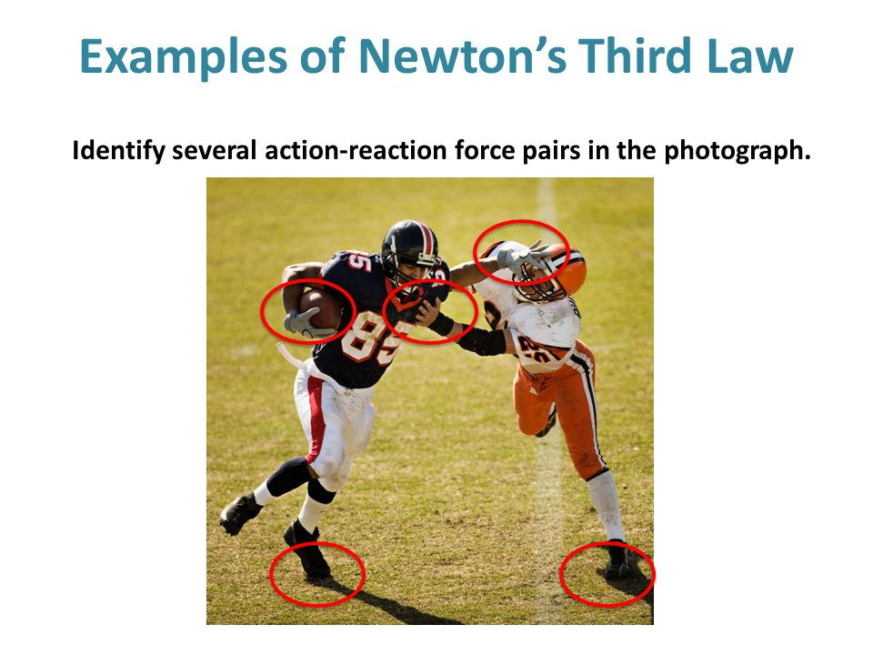 Examples of Newton's Third Law