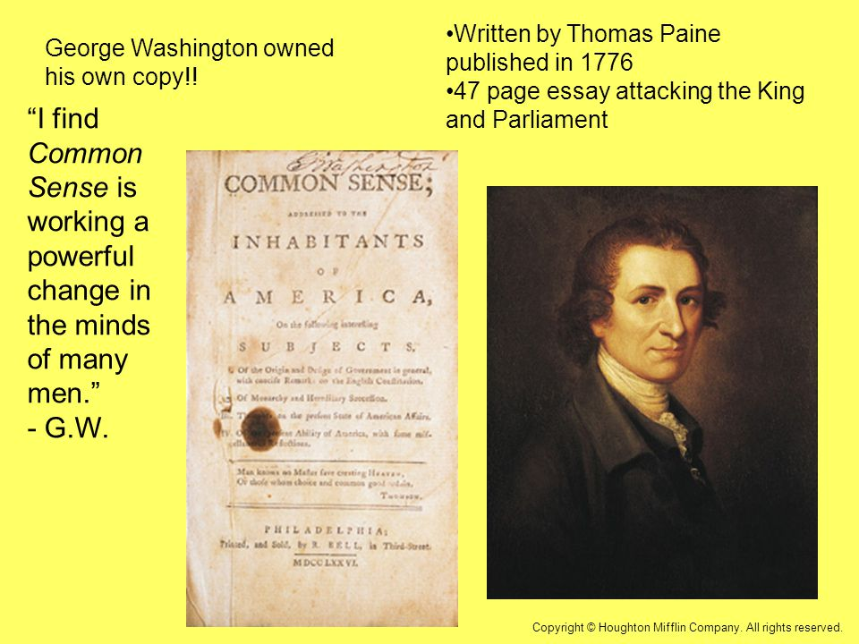 thomas paine s common sense and declaration independence Thomas paine and common sense by wendy thowdis to read and understand the declaration of independence but the document thomas paine's common sense.