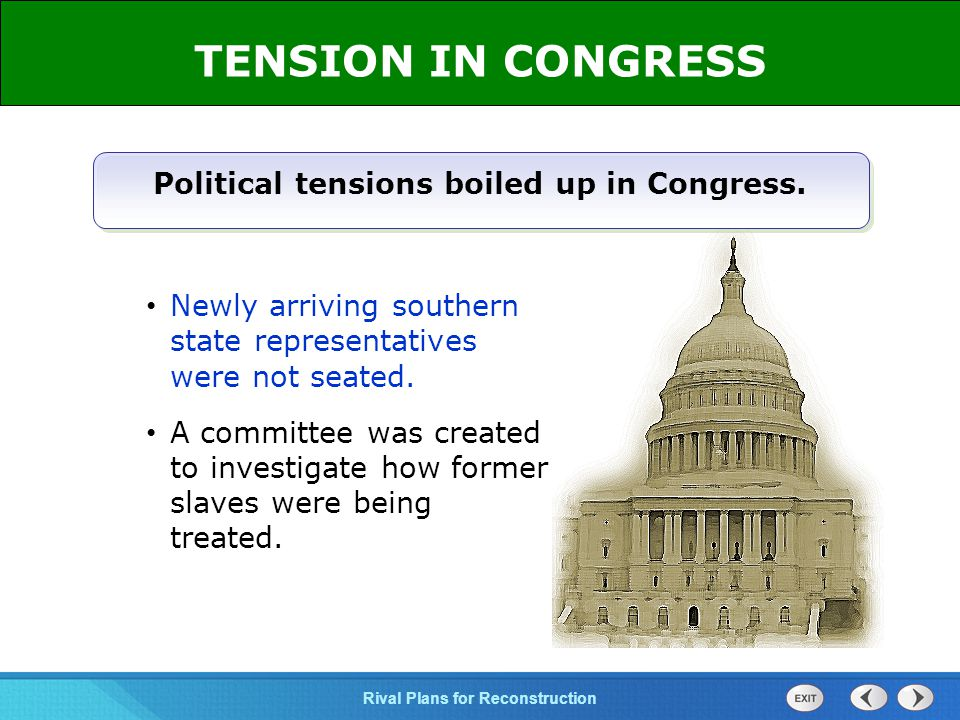 Political tensions boiled up in Congress.