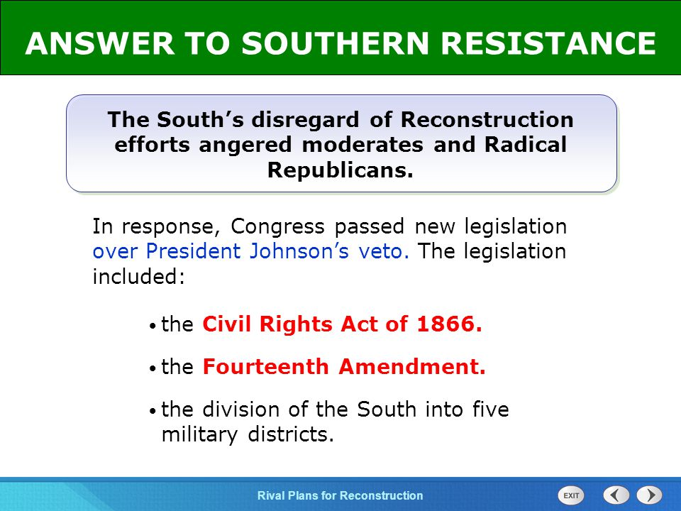 ANSWER TO SOUTHERN RESISTANCE