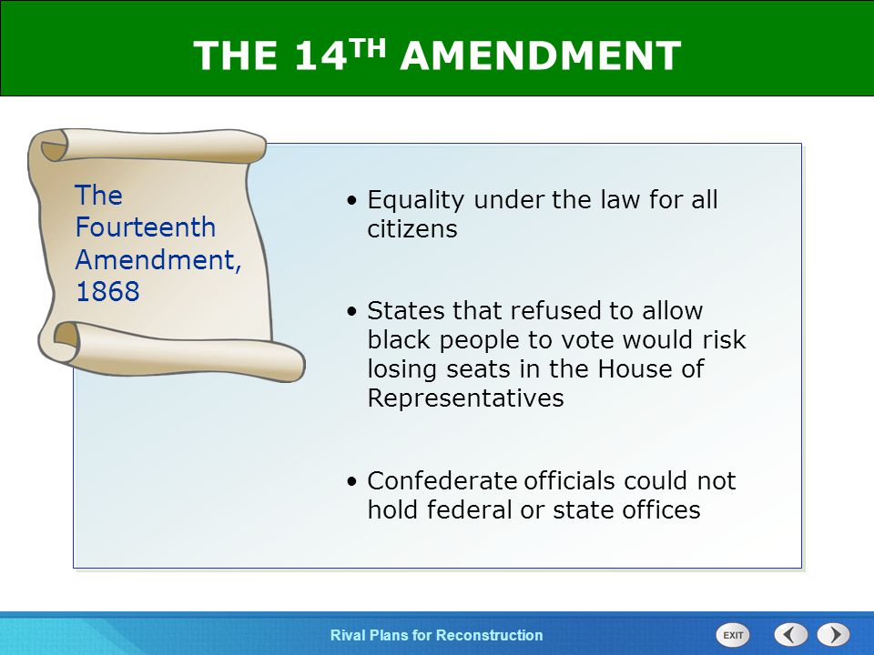 THE 14TH AMENDMENT The Fourteenth Amendment, 1868