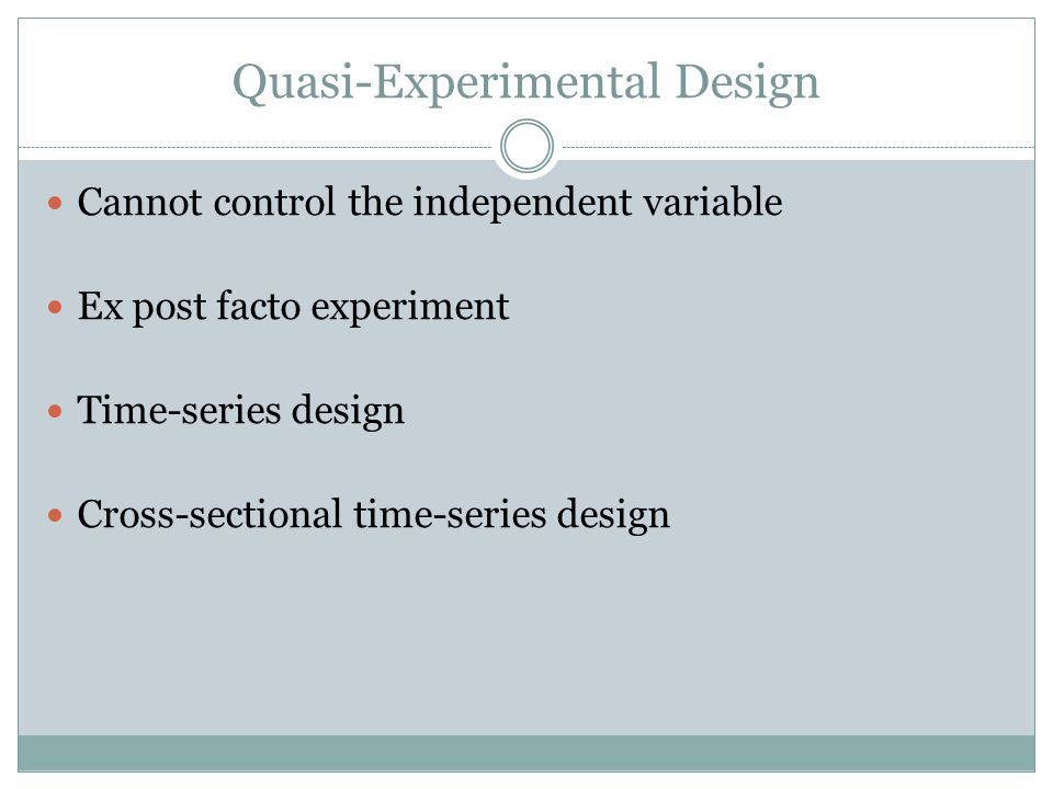 what is quasi experimental design pdf