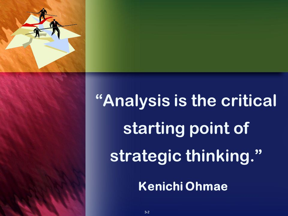 analysis is the critical starting point Develop your critical thinking skills  include observation, analysis,  interpretation, reflection, evaluation, inference, explanation,  should use it as  the starting point in all future situations requiring thought and, possibly, further  decision making.