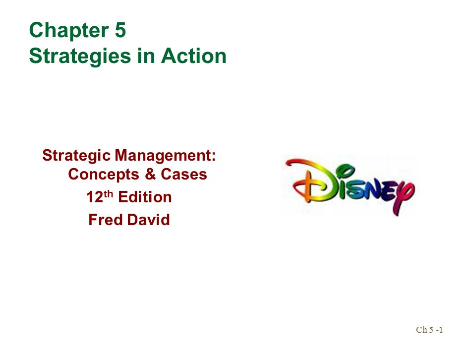 strategic management notes fred r david 12th edition