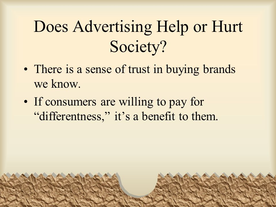 Does Advertising Help or Hurt Society