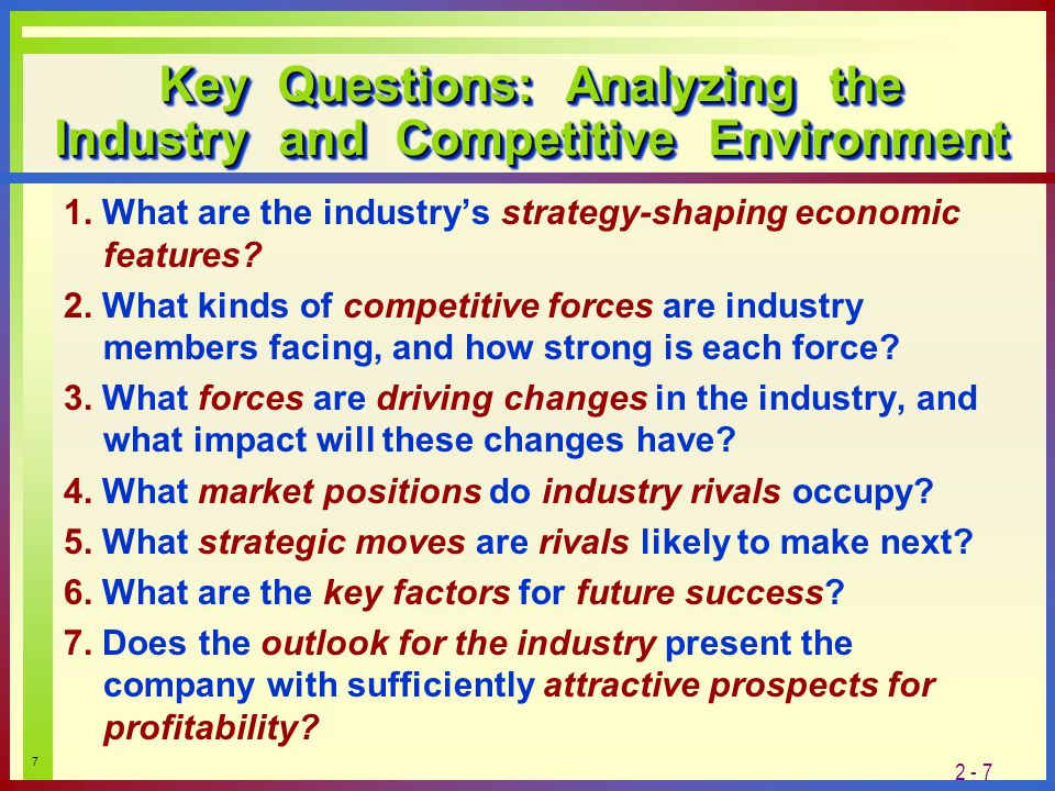 driving forces or key success factor cosmetic industry B are determined by the industrys driving forces c hinge on how many different from ba 3010 at oakland university  an industry's key success factors a are a .