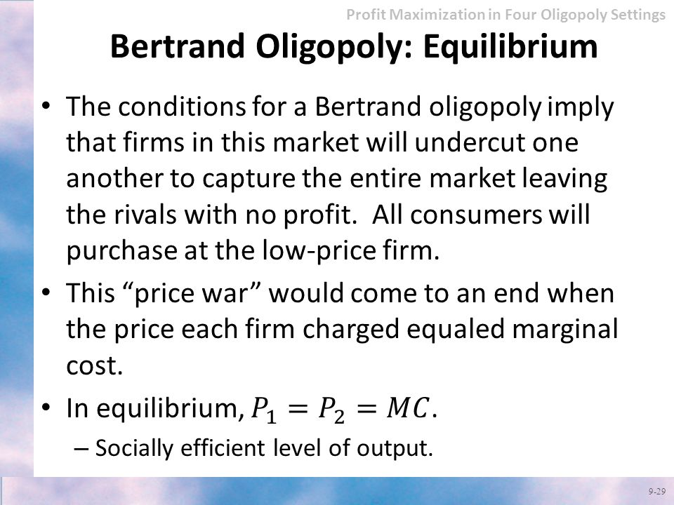 how to find bertrand equilibrium