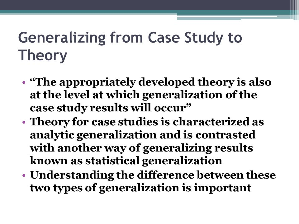 Generalizing Statistical Results to the Entire Population ...