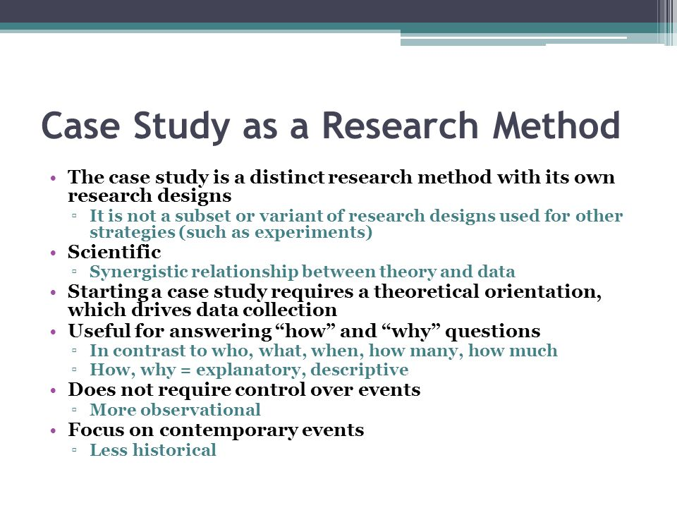 Write an essay on case study method