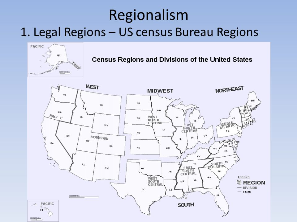 North America Human Geography Ppt Video Online Download - Us census regions and divisions map