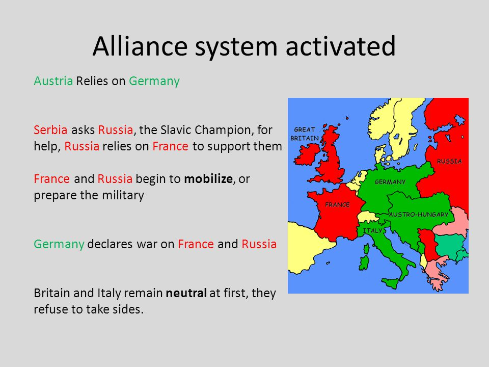 a paper on first world war and the alliance system That no one could stop please note that not all alliances are listed here  there's too many and this is a history of the first world war, not 19th century  europe.