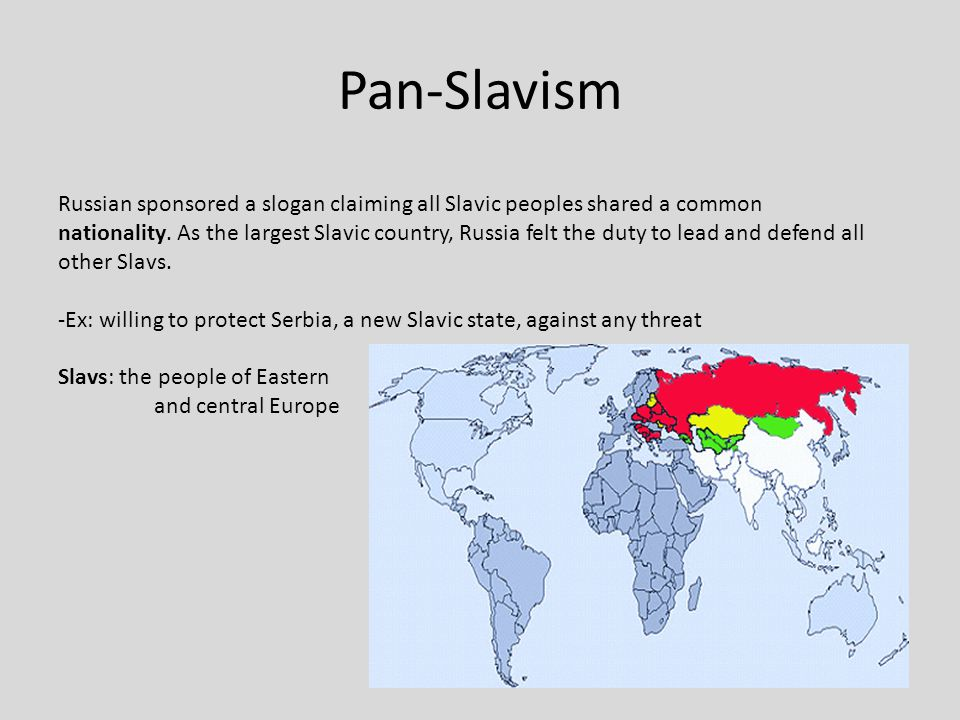 nationalism imperialism and militarism led to world war i pan slavism in eastern europe Nationalism, imperialism, and militarism all  the rise of pan-slavism in eastern europe and the  militarism irrevocably led to world war i pay.