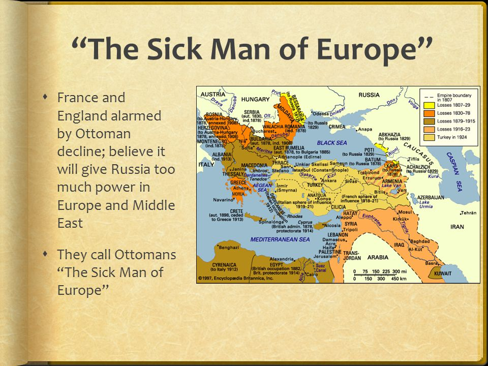 ottoman empire the sick man of europe