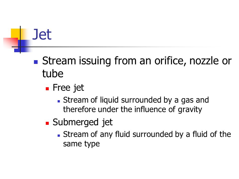 orifice and free jet flow 1 Through the orifices is a function of the orifice coefficients (equation (1)) single  orifice  bubbles relocate the momentum of the free jet within the liquid.