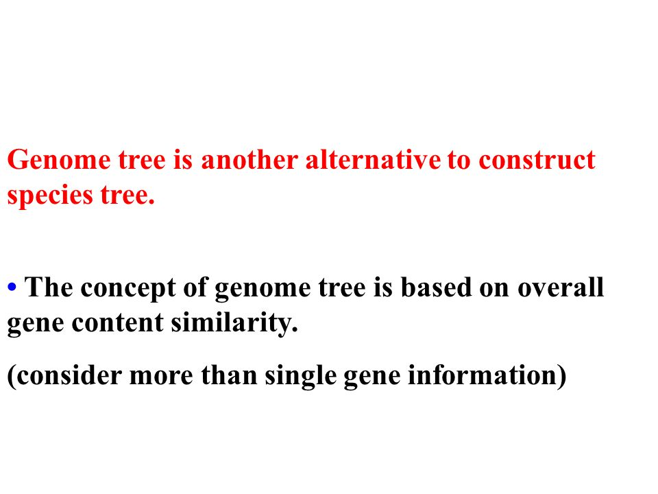 Genome tree is another alternative to construct species tree.