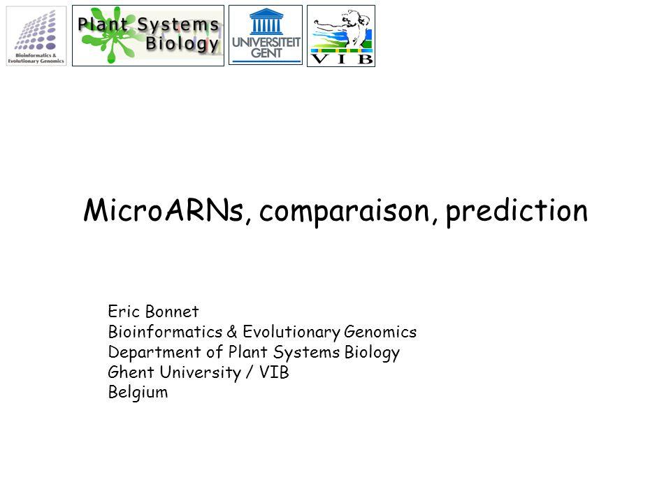 MicroARNs, comparaison, prediction