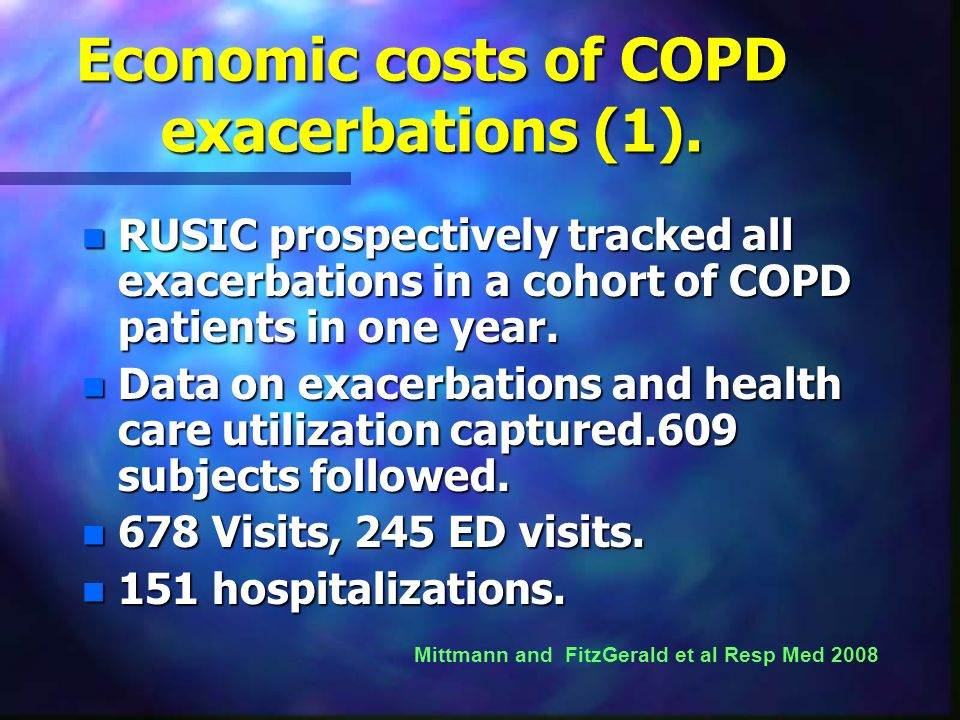 Economic costs of COPD exacerbations (1).