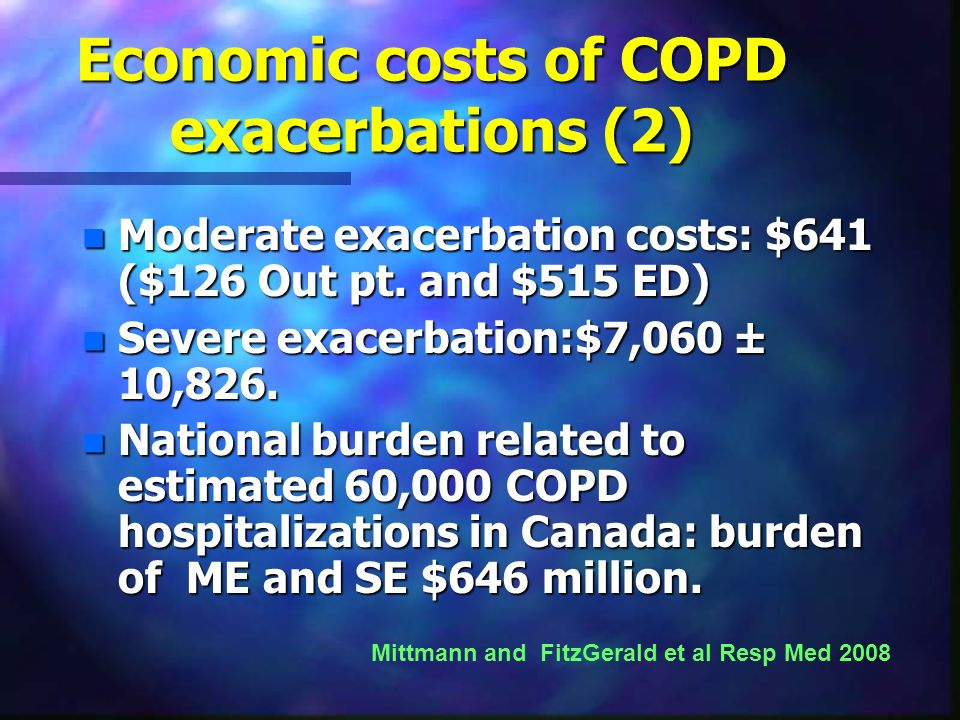 Economic costs of COPD exacerbations (2)