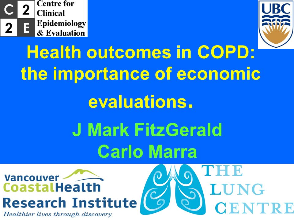 Health outcomes in COPD: the importance of economic evaluations.