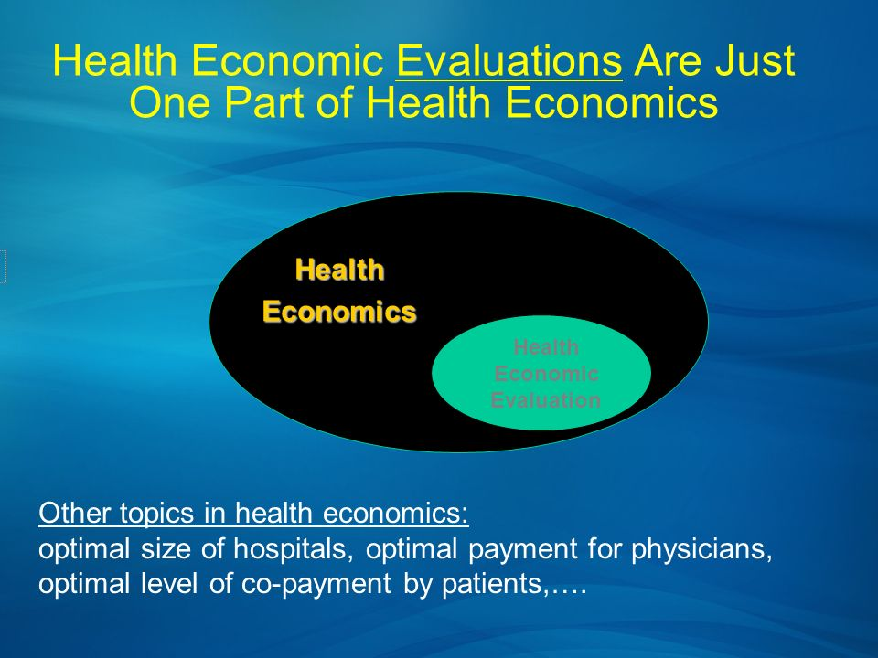 Health Economic Evaluations Are Just One Part of Health Economics