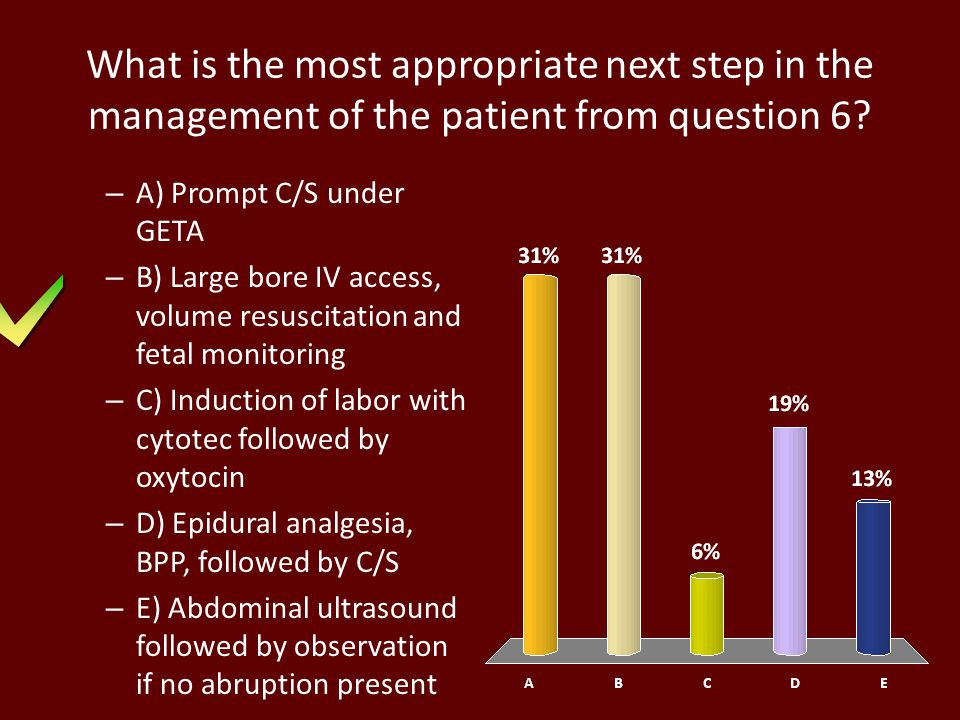 What is the most appropriate next step in the management of the patient from question 6