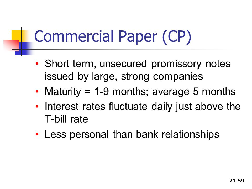 commercial paper is a short-term security issued by Practice problems multiple choice choose the one alternative that best completes the statement or answers the question 1) a commercial paper holder 8) 9) a short-term debt instrument issued by well-known corporations is called a.