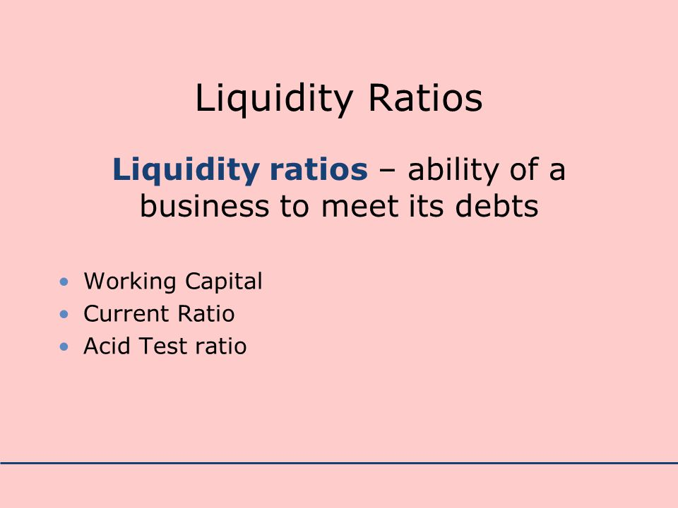 how to find liquidity ratio
