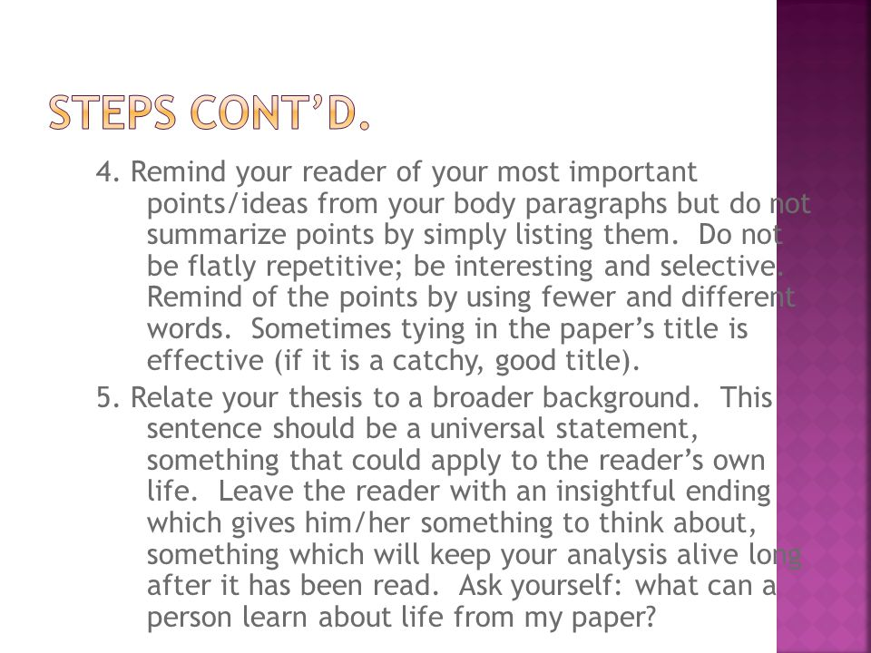 catchy ending essay Student writers may start out with a catchy beginning, only to get bogged down and just stop at the end by exploring endings from children's literature, students learn that a good ending leaves the reader with something to think about and that it often refers back to the beginning through.
