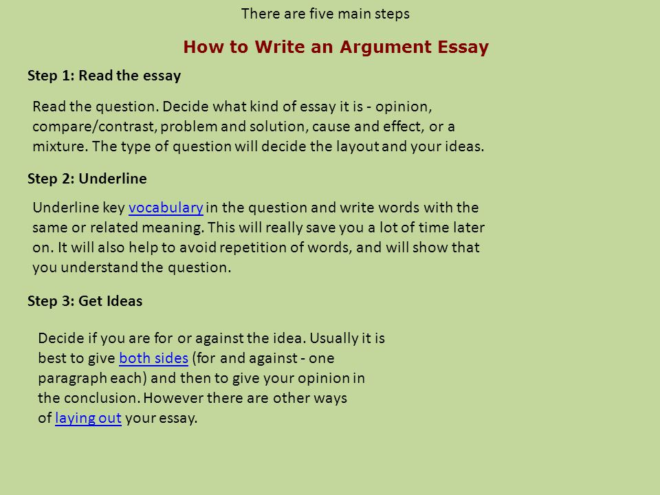 Steps to write an opinion essay