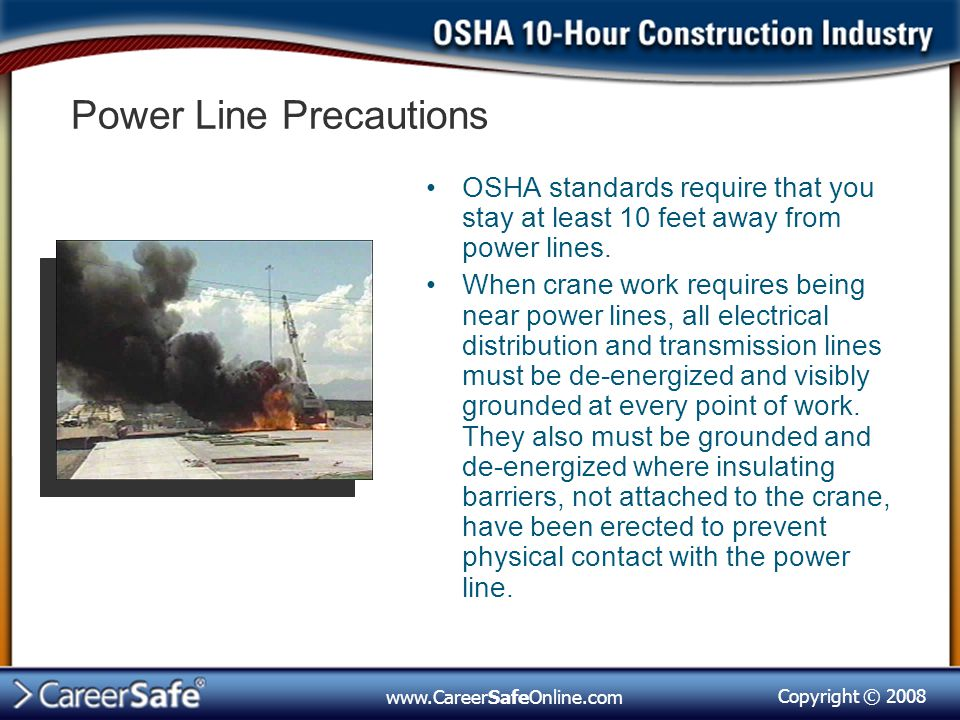 Power Line Precautions