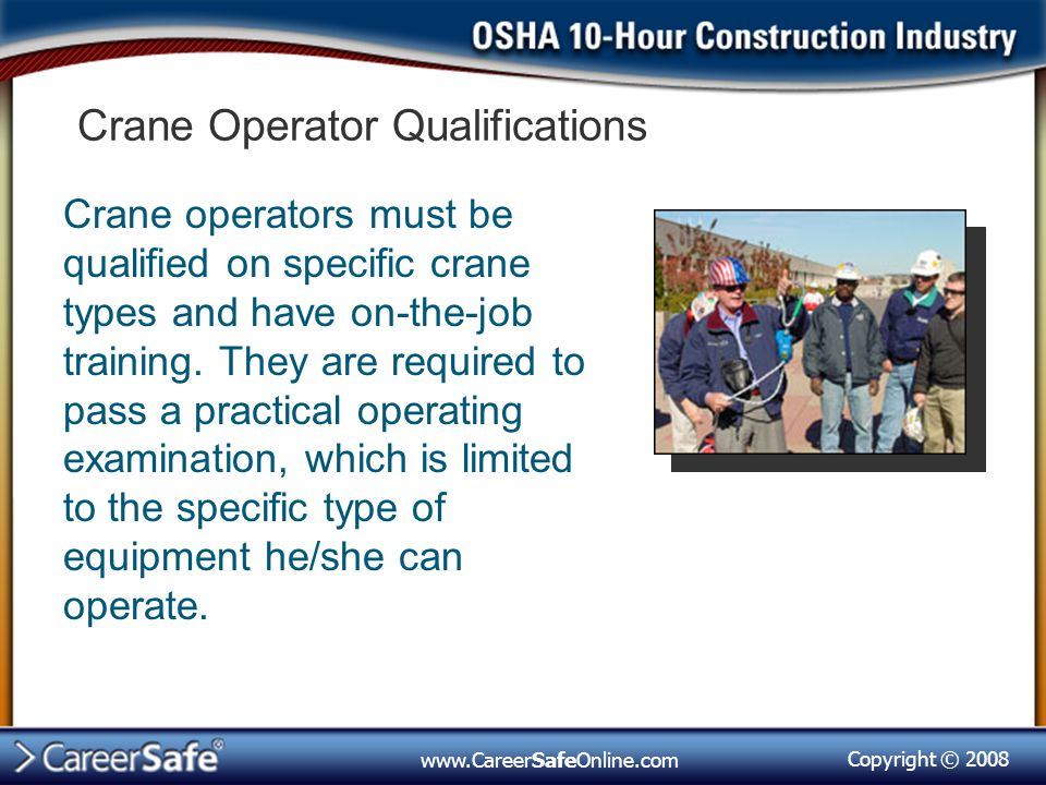 Crane Operator Qualifications