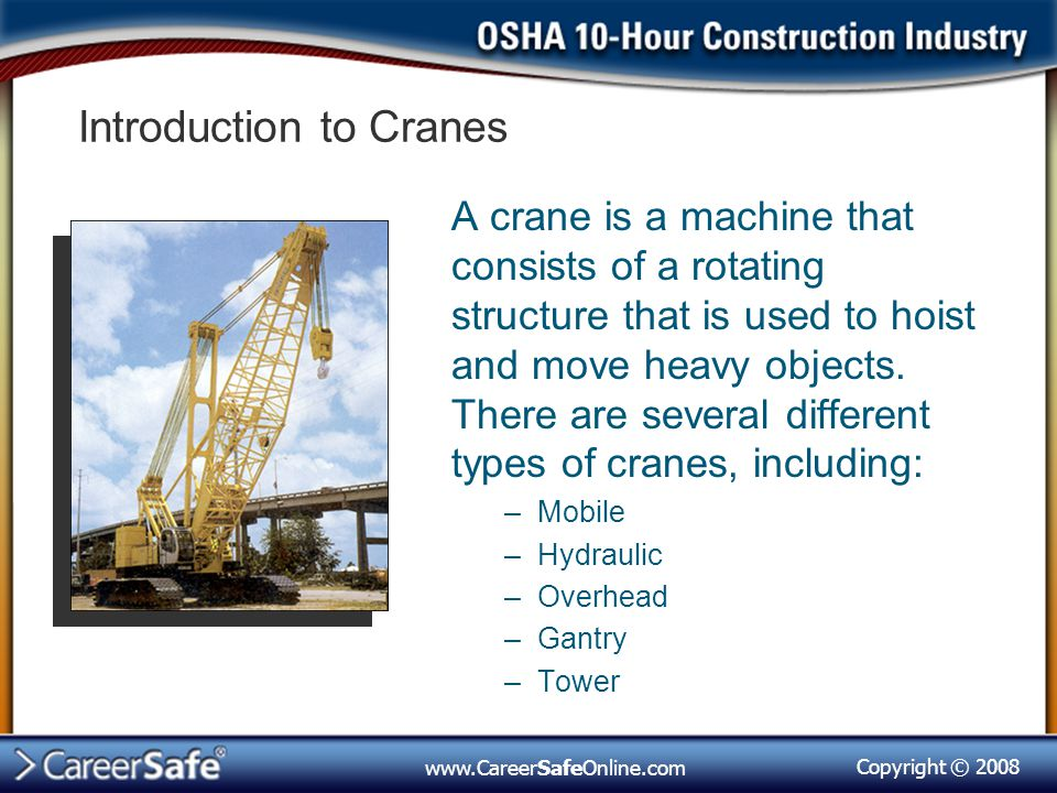 Introduction to Cranes