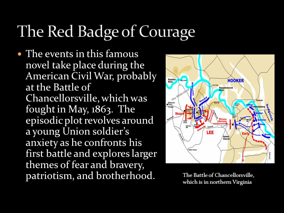 an analysis of the themes of the red badge of courage by stephen crane This analysis of the red badge of courage will help you intelligently  stephen  crane was a realist and a naturalist, believing that nature was.
