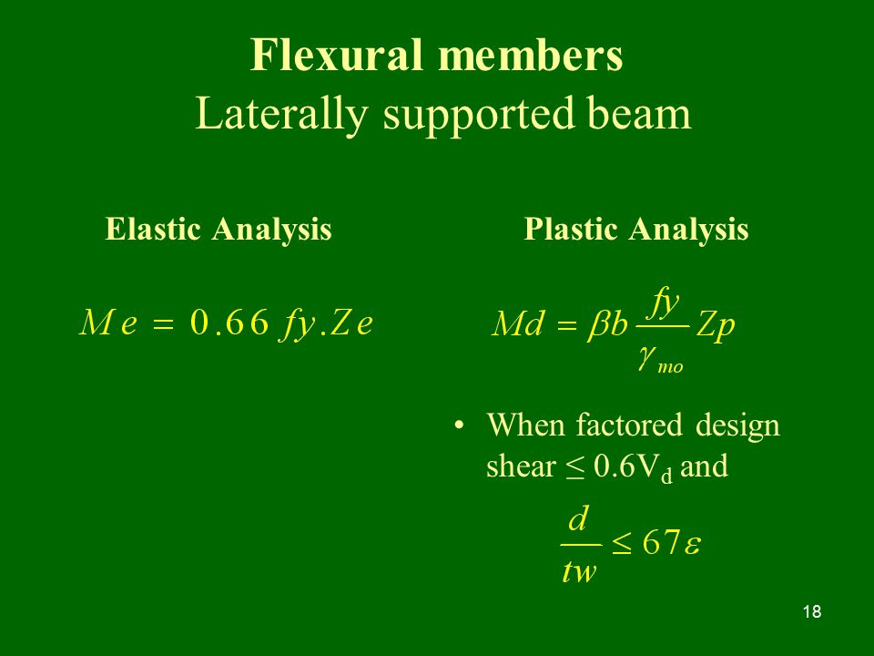 Flexural members Laterally supported beam