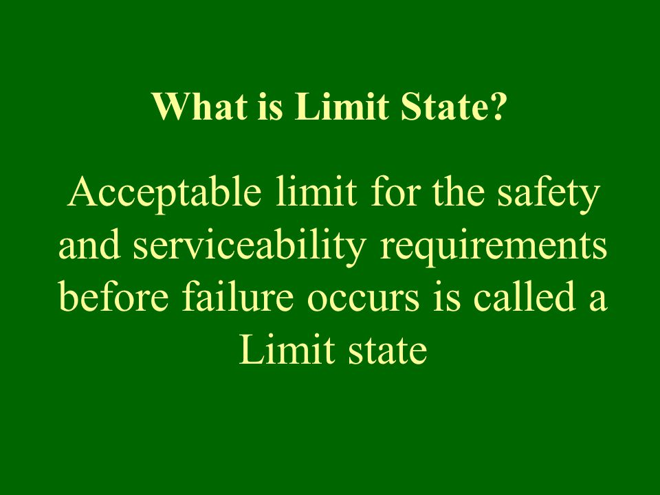 What is Limit State.