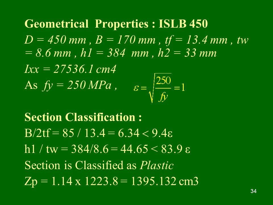 Geometrical Properties : ISLB 450
