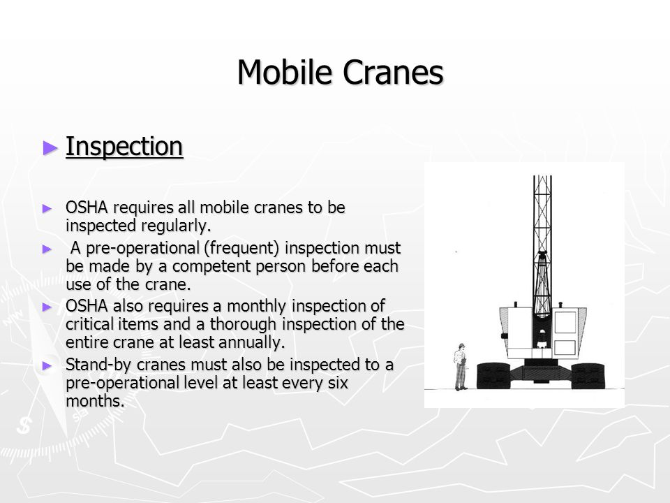 Mobile Cranes Inspection