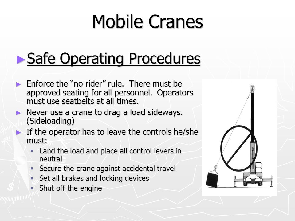 Mobile Cranes Safe Operating Procedures