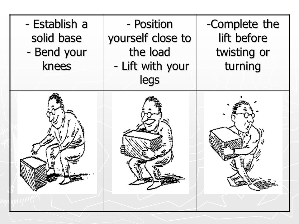 - Establish a solid base - Bend your knees