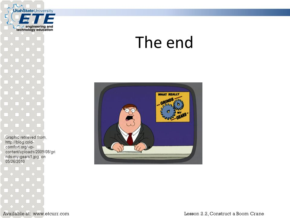 The end Graphic retrieved from,   on 05/26/2010.