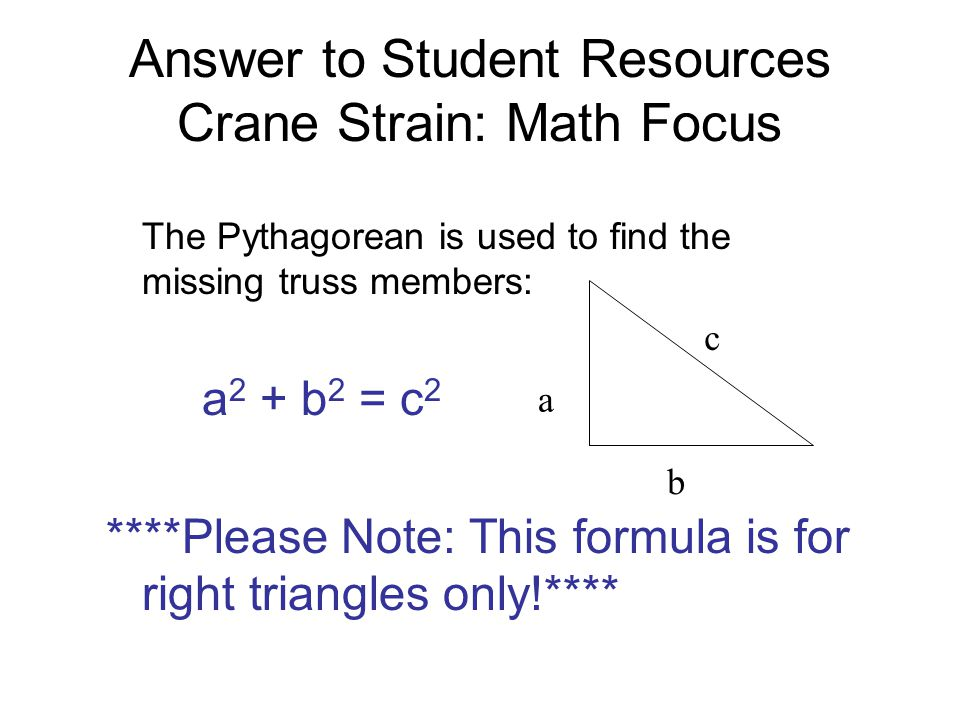 Answer To Student Resources Crane Strain Math Focus