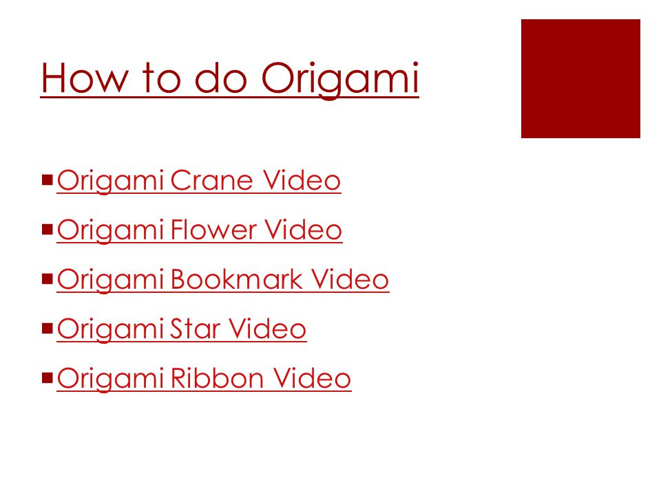 Origami and kirigami ppt download how to do origami origami crane video origami flower video mightylinksfo
