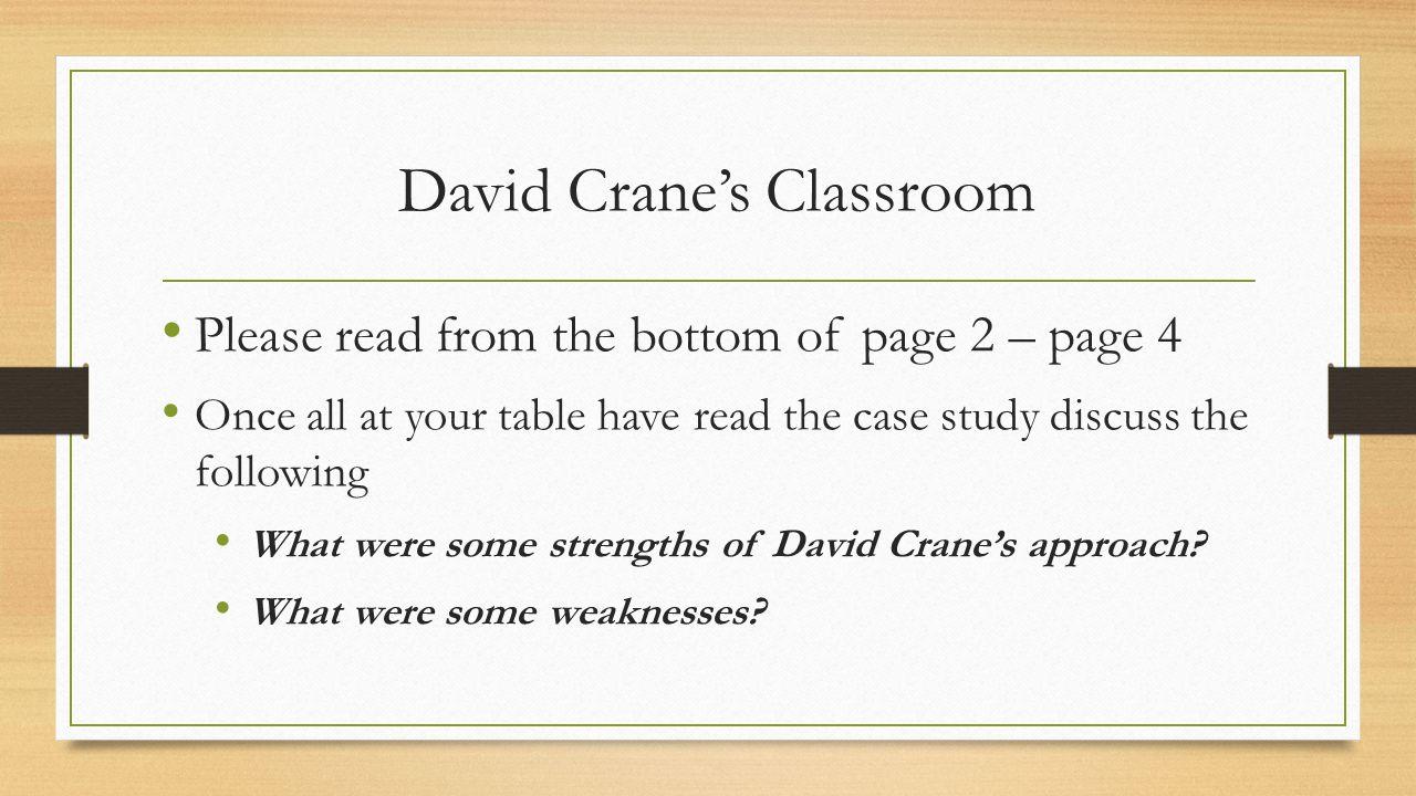David Crane's Classroom