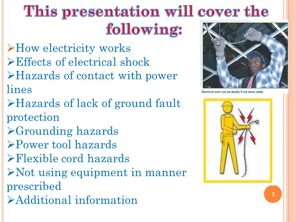 Chapter Three Hazards Of Electricity In Construction Ppt