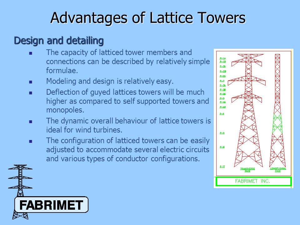 Advantages Of Lattice Towers Ppt Video Online Download